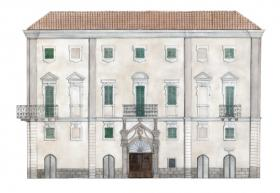 Palazzo Serra disegno di Paola Serra